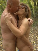 Naughty granny Anna Mary enjoys getting it outdoors with a well endowed granpa live