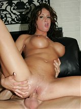 Tory Lane posing naked on webcam and taking a cock inside her pussy and asshole