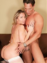Lisa Lee showing off her pair of big boobs while riding Marco Banderas meaty shaft